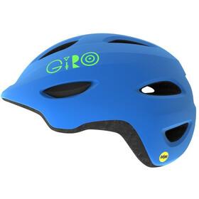 Giro Scamp MIPS Helmet Barn matte blue/lime